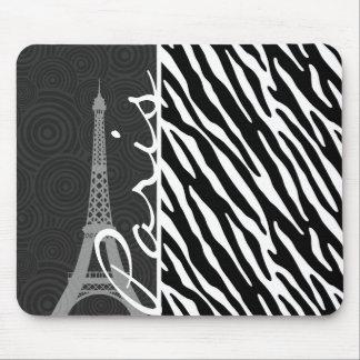 Black & White Zebra; Paris Mouse Pad