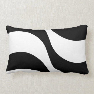black + white zebra stripe pattern modern  pillow throw cushions