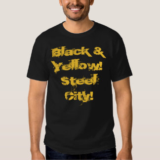 Black & Yellow!Steel City! T shirt Wiz