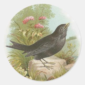 Blackbird Round Sticker