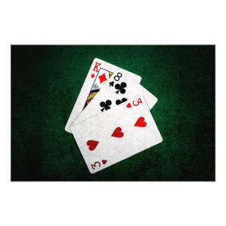 Blackjack 21 point - King, Eight, Three Photo