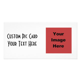 ♥ Blank - Create Your Own Gift Photo Card Template