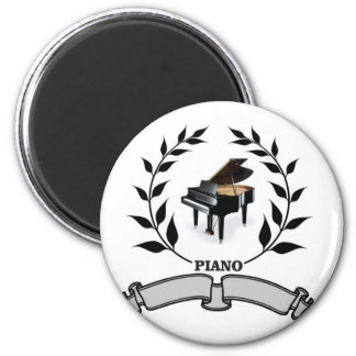 blank piano seal 6 cm round magnet