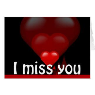 Bleeding Heart I Miss You Greeting Card