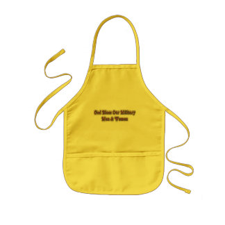 Bless Our Military Soldiers Kids Apron