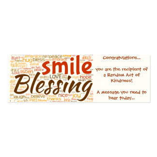 Blessing Card (Random Act of Kindness) Pack Of Skinny Business Cards