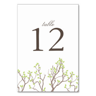 Blissful Branches Wedding Table Card