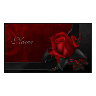 Bloody Rose - Gothic Design Pack Of Standard Business Cards