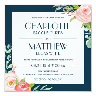 Blooming Botanicals | Wedding Invitation