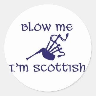 Blow me i'm Scottish Round Sticker