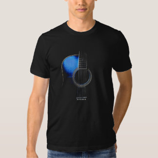 Blue Acoustic Guitar T-Shirt (see description)