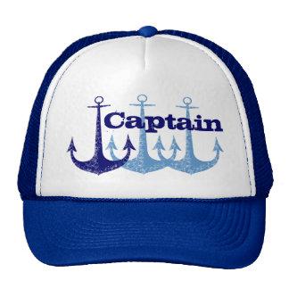 Blue anchor Captain, boy's personalized Cap