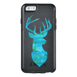 Blue and Green Watercolor Deer Trophy Art OtterBox iPhone 6/6s Case