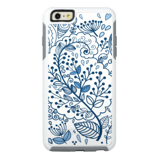 Blue and White Floral Otterbox iPhone 6 Plus Case