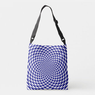 Blue and white flower tote bag