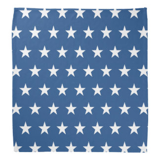 Blue and White Star Pattern Kerchiefs