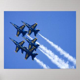 Blue Angels flyby during 2006 Fleet Week Poster