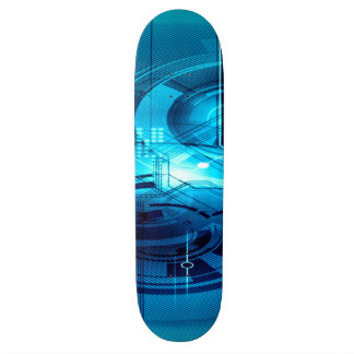 Blue Anime Artificial Intelligence Interface Skate Boards