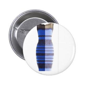 Blue Black Dress White & Gold Split Photo Pic 6 Cm Round Badge