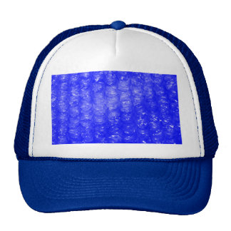 Blue Bubble Wrap Effect Cap