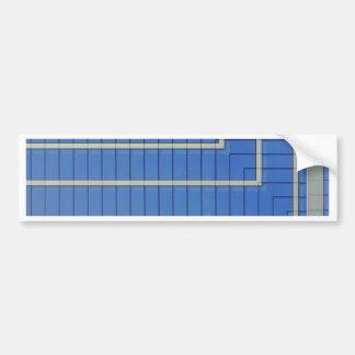 Blue Building Block 4 Bumper Sticker