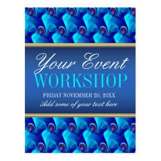 Blue Business Workshop Party Invitation template Postcard