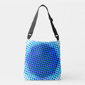 Blue Circle and Square Cross Body Bag Tote Bag