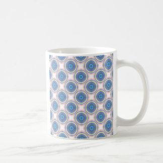 Blue Circles Basic White Mug