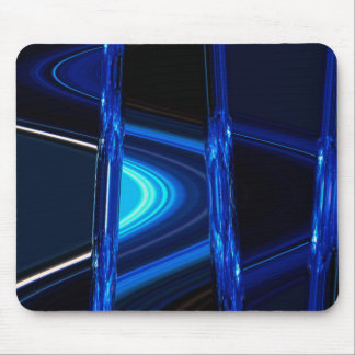 Blue Distraction Mouse Pad
