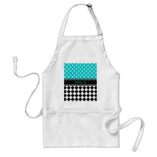 Blue Dot Checkerboard Standard Apron