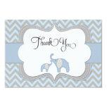 Blue Elephant Baby Shower Thank You Card 9 Cm X 13 Cm Invitation Card