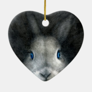 BLUE EYES CERAMIC HEART DECORATION