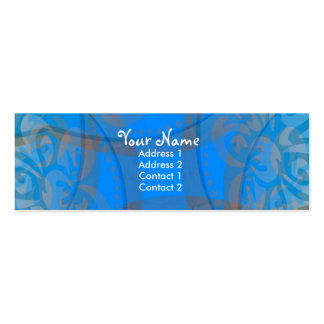 Blue Floralia Profile Card Pack Of Skinny Business Cards