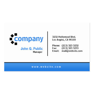 Blue Gradient Bottom Simple Modern Professional Pack Of Standard Business Cards