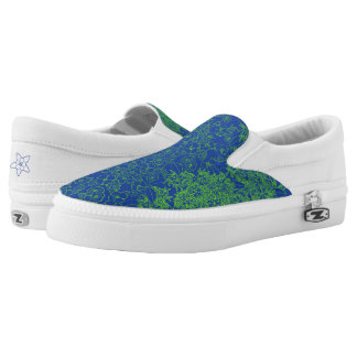 Blue & Green Floral Print by Aleta Printed Shoes