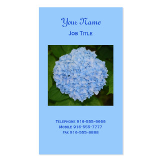Blue Hydrangea Business Cards