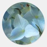 Blue Hydrangea Flowers Floral Flower Photo Round Sticker