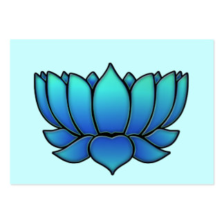 blue lotus pack of chubby business cards