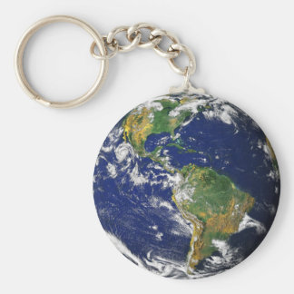 Blue Marble_Make Every Day Earth Day Basic Round Button Key Ring