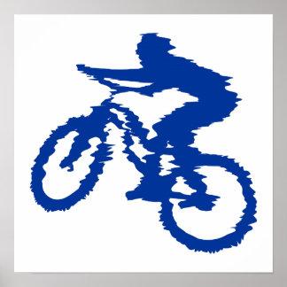 Blue Mountain Bike Poster