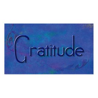 Blue on Blue Block Gratitude Affirmation Cards Pack Of Standard Business Cards