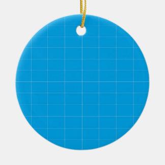 blue pictures round ceramic decoration