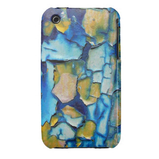 Blue Rust, And Gold Chipping Paint iPhone 3 Case