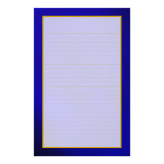 Blue Saphire Fine Lined Stationery