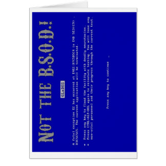Blue Screen of Death Greeting Card