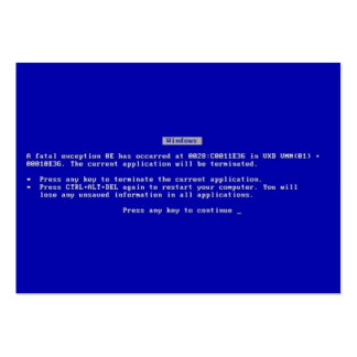 Blue Screen of Death Pack Of Chubby Business Cards