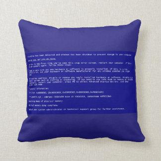 Blue Screen of Death Pillow Throw Cushion