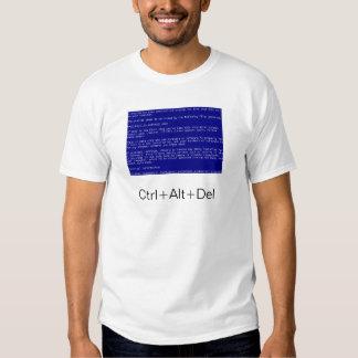 blue screen of death shirt
