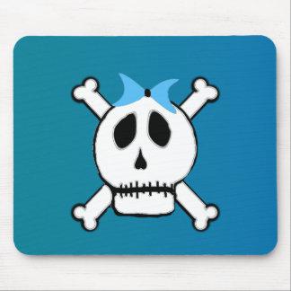 Blue Skull Girl Binder Mouse Pad