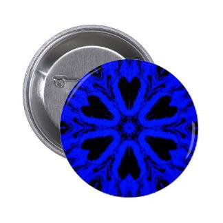 Blue Skull Turnstile Pic 6 Cm Round Badge